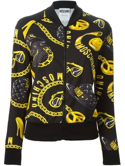 Moschino   - Accessories Print Bomber Jacket