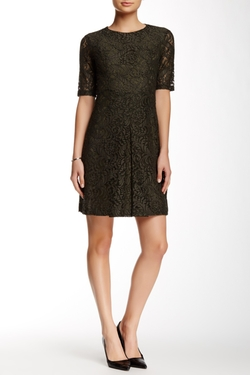 Cynthia Steffe - Arlene Inverted Pleat Lace Dress