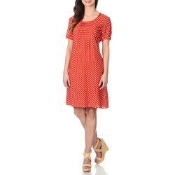 La Cera - Polka Dot Print Dress