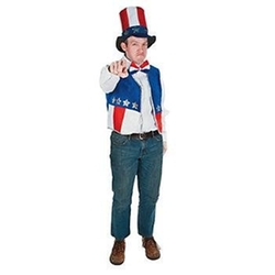 Cool Fun - Patriotic Vest Hat Bow Tie