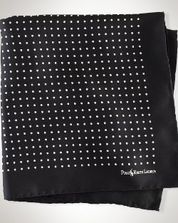 Ralph Lauren - Polka-dot Silk Pocket Square