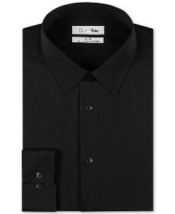 Calvin Klein - Slim-Fit Solid Performance Dress Shirt