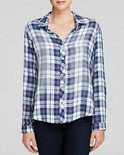 Bella  - Button Down Plaid Dahl Shirt