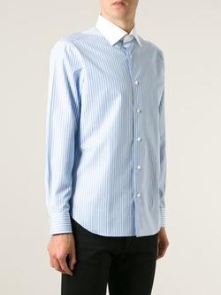 Truzzi - Contrast Collar Striped Shirt