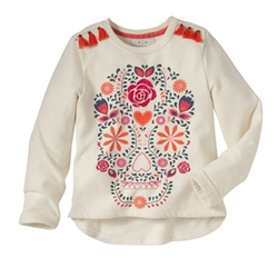 La Redoute - Sparkly Printed And Embroidered Round Neck Sweatshirt