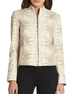 Elie Tahari  - Leather Cleary Jacket