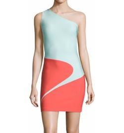 Thierry Mugler - Mugler One-Shoulder Curved Colorblock Dress