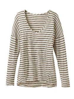 Athleta - Striped Long Sleeve Boxy Tee by Pink Lotus
