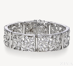 Ziva - Floral Pattern Antique Bracelet