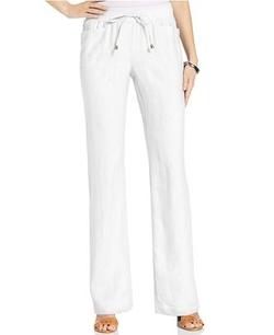 Style&co.  - Wide-Leg Linen Drawstring Pants