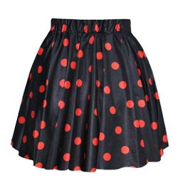 Finejo - Polka Dot Pattern Skirt