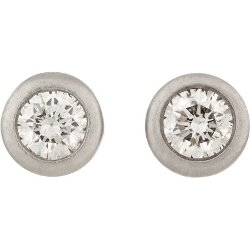 Tate - Diamond & White Gold Stud Earrings