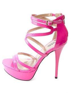 Charlotte Russe - Strappy Platform Heels