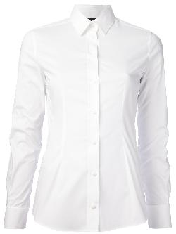Vince - Georgette Button-Down Blouse, White