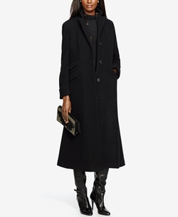 Lauren Ralph Lauren - Wool-Cashmere Blend Single-Breasted Long Coat