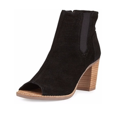 Toms - Majorca Perforated Suede Booties