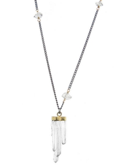 Jamie Joseph - Crystal Point Pendant With Herkimer Diamond Chain