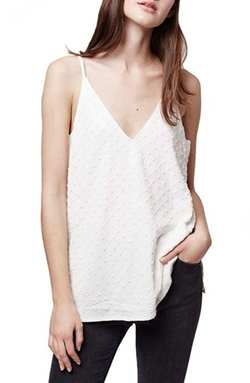 Topshop - Textured V-Neck Camisole Top
