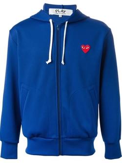 Comme Des Garçons Play - Full Zipped Hoodie Jacket