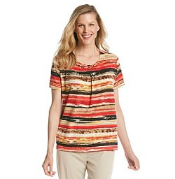 Alfred Dunner - Watercolor Stripe Tee