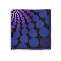 Tom Ford - Floating Circle-Print Pocket Square