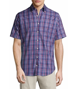 Peter Millar - Plaid Short-Sleeve Sport Shirt