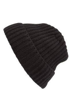 Andrew Stewart  - Rib Knit Wool & Cashmere Beanie