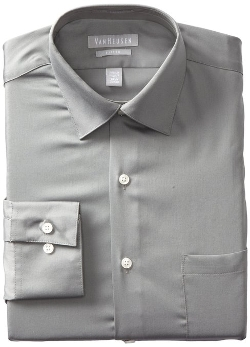 Van Heusen - Fitted Lux-Sateen Dress Shirt