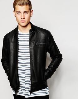 Jack & Jones - Faux Grained Leather Jacket