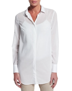 Brunello Cucinelli - Cotton Chiffon Blouse