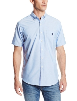 U.S. Polo Assn. - Slim Fit Short Sleeve Button Down Oxford Shirt