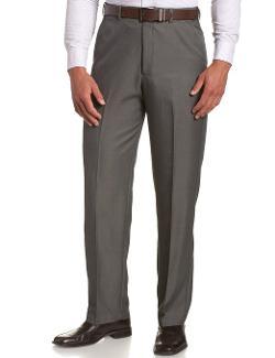 Haggar - Expandable-Waist Plain-Front Pant