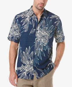 Cubavera - Tropical Floral-Print Short-Sleeve Shirt