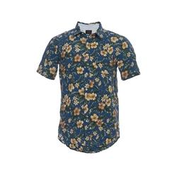 Jachs NY - Floral Print Linen Short Sleeve Shirt