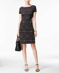 Ivanka Trump - Geo-Print A-Line Dress