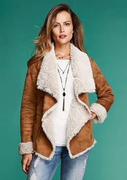 Alloy - Cascade Faux Shearling Coat