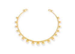 Tory Burch - Pearly Bud Collar Necklace