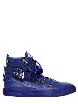 Giuseppe Zanotti Homme  - Leather High Top Sneakers