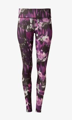 Express - Purple Blurred Print Leggings