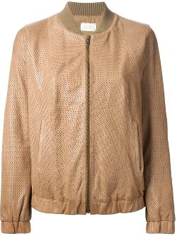 Forte Forte  - Perforated Bomber Jacket