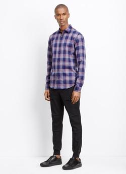 Vince - Melrose Check Poplin Button Up Shirt