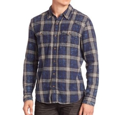 True Religion - Indigo Plaid Western Shirt