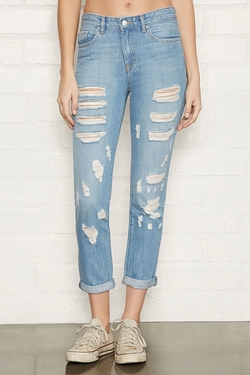 Forever 21 - Distressed Boyfriend Jeans