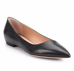Giorgio Armani  - Asymmetrical Leather Ballet Flats