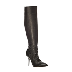 Tally - Pebble Grain Leather Tall High Heel Boots