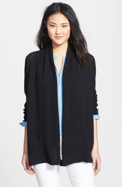 NYDJ - Mixed Knit Drape Front Cardigan