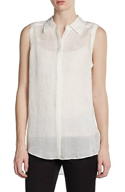 Rachel Zoe  - Sleeveless Silk Blouse