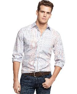 Club Room  - Slim-Fit Salisbury Plaid Shirt