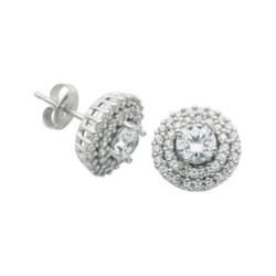 DiamonArt - Double-Halo Stud Earrings