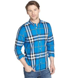 Burberry Brit  - Plaid Cotton Button Down Long Sleeve Shirt
